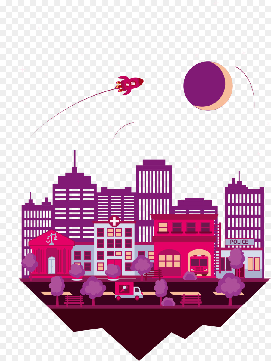 Housing Graphic design Architecture - Vector color city png download ...