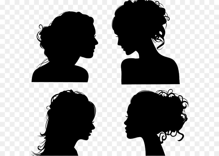 Royalty-free Face Woman Clip art - Character head silhouette