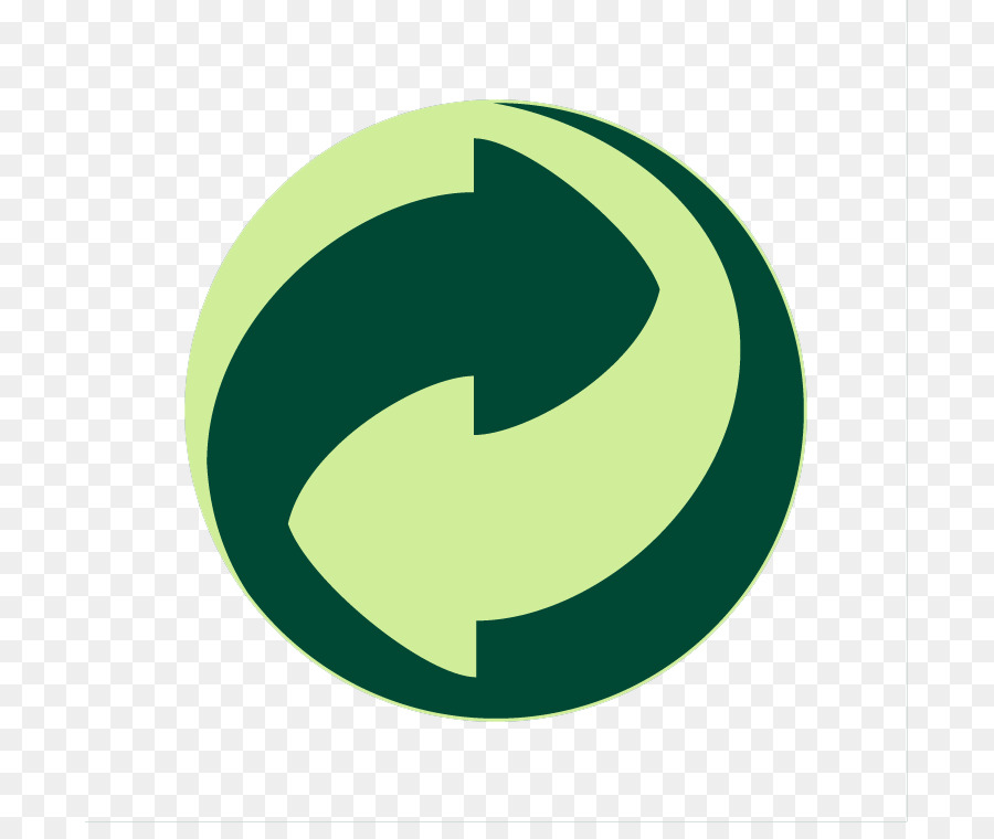 Green Dot Recycling Symbol Logo Reduce Reuse Recycle Symbol Png