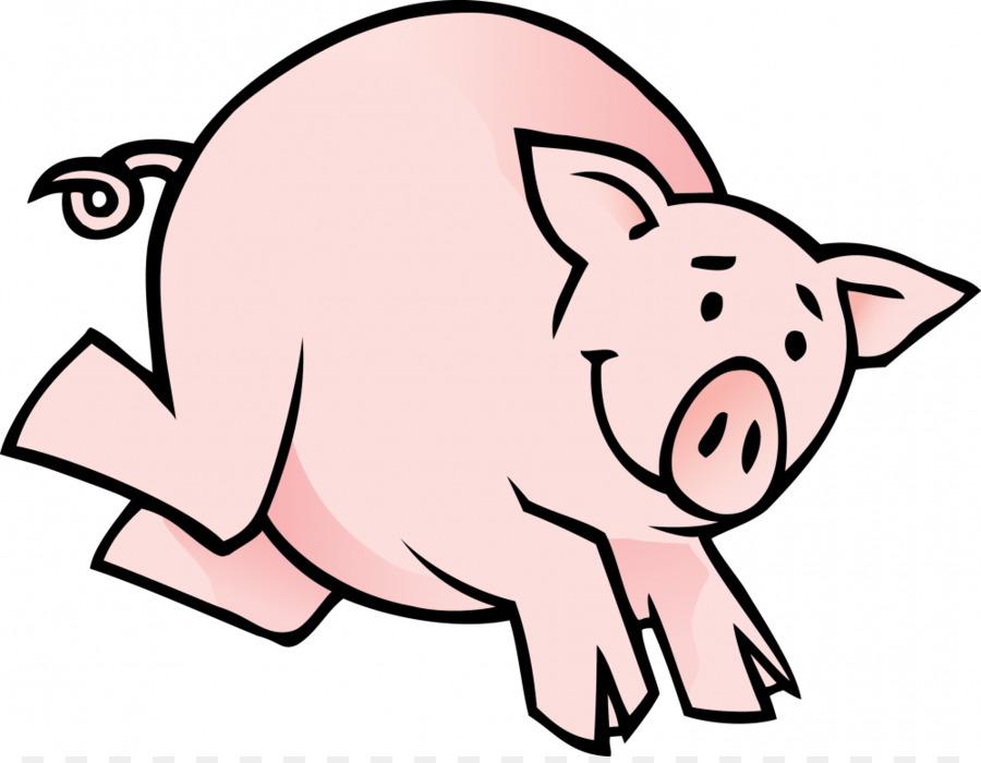 Domestic Pig Small Black Pig Cartoon Clip Art