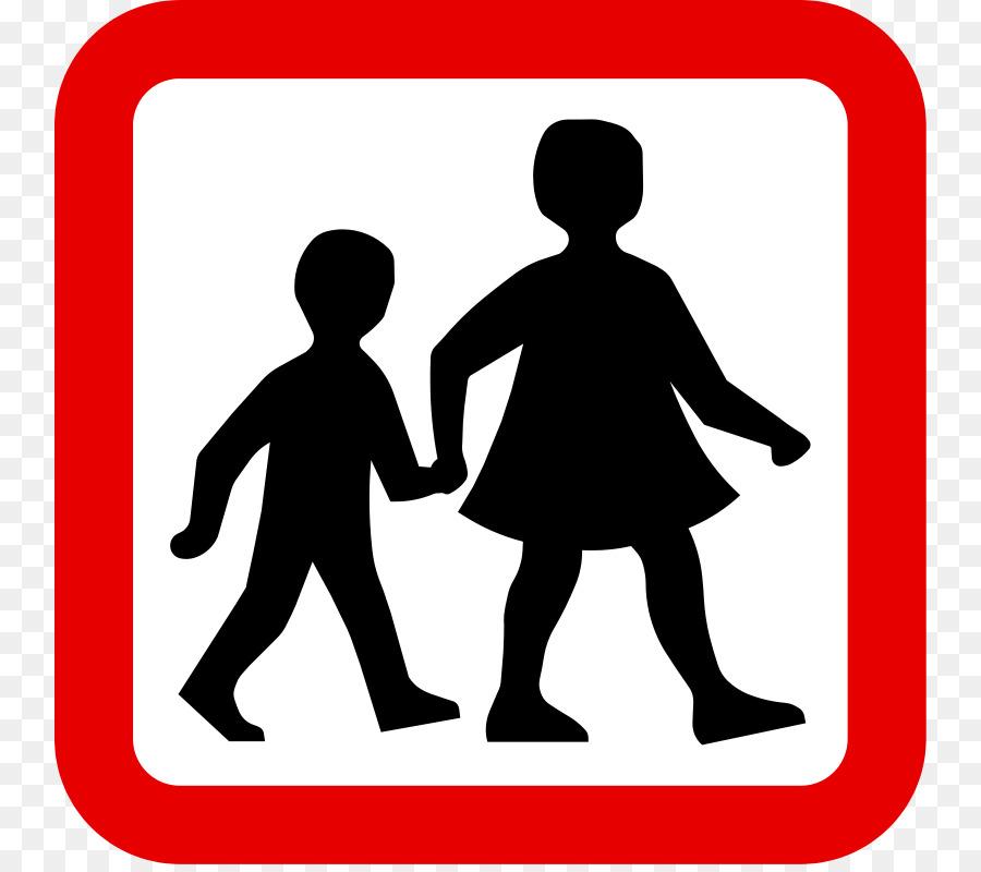 child pedestrian crossing traffic sign children singing