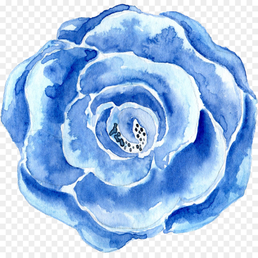 Blue Watercolor Painting Flower Blueflowershand Painted Png