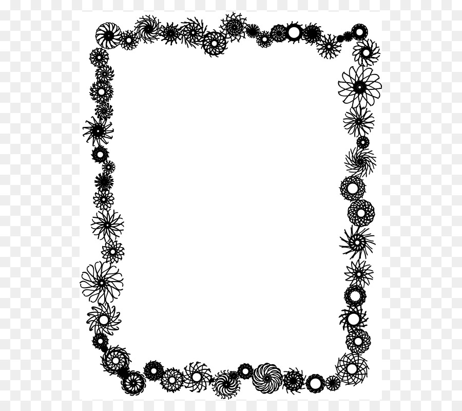Borders and Frames Picture Frames Black and white Clip art - Hearts ...