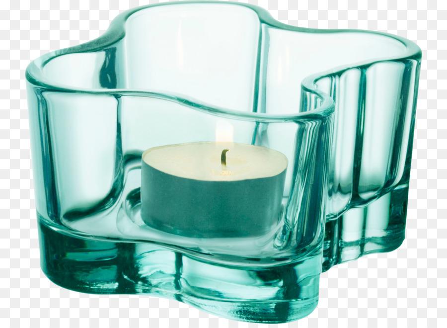 Restaurant Savoy Aalto Vase Iittala Glass Fancy Green Glass Candle