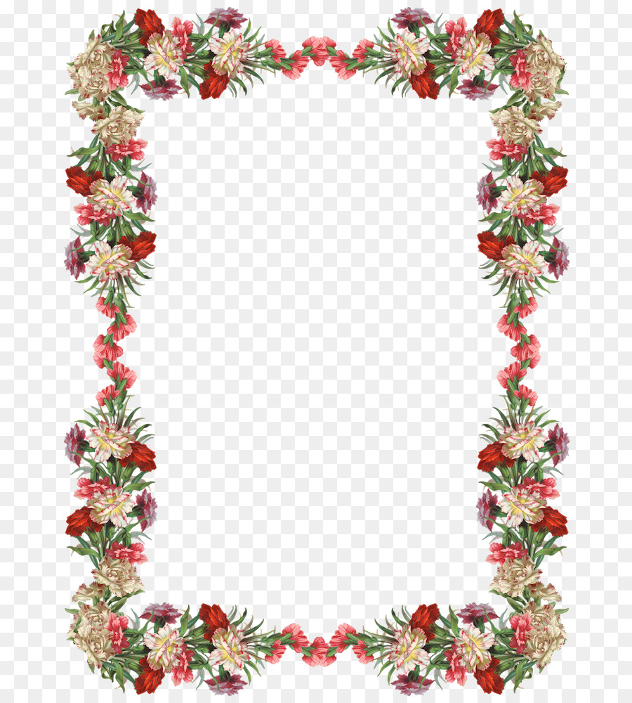 Border Flowers Picture Frames Clip art - Free Birthday Frames png ...