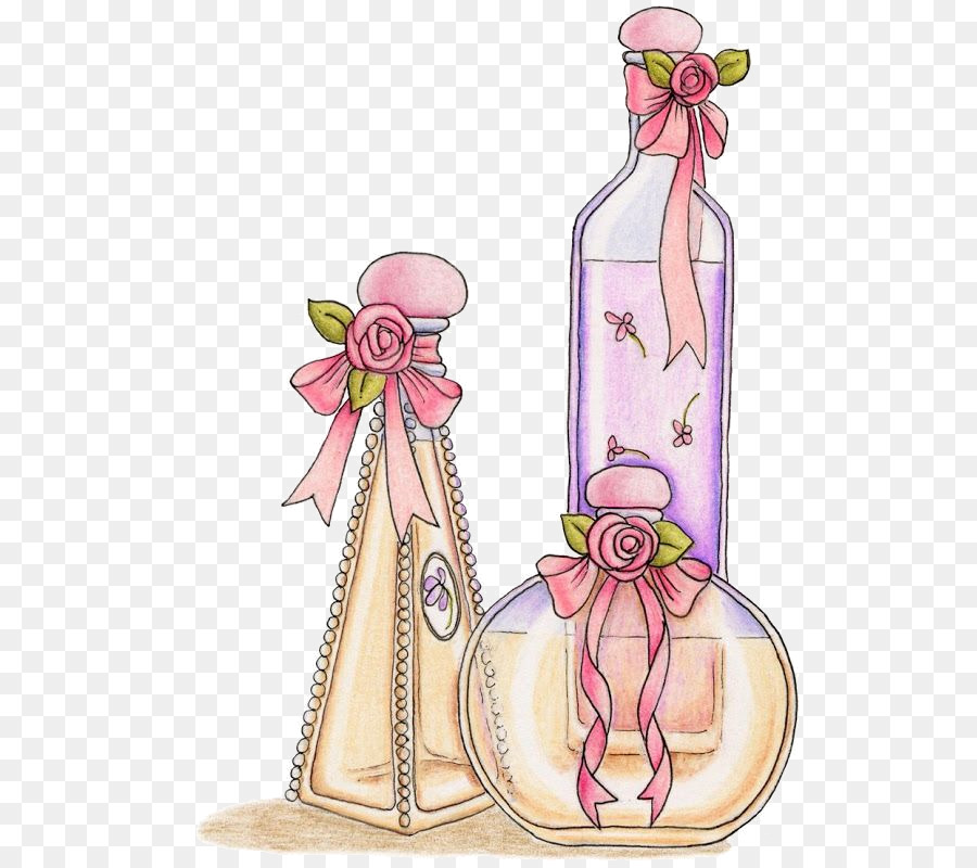 5b8f7a7fafaf Chanel Perfume Bottles Eau de Cologne Clip art - Watercolor bottle ...