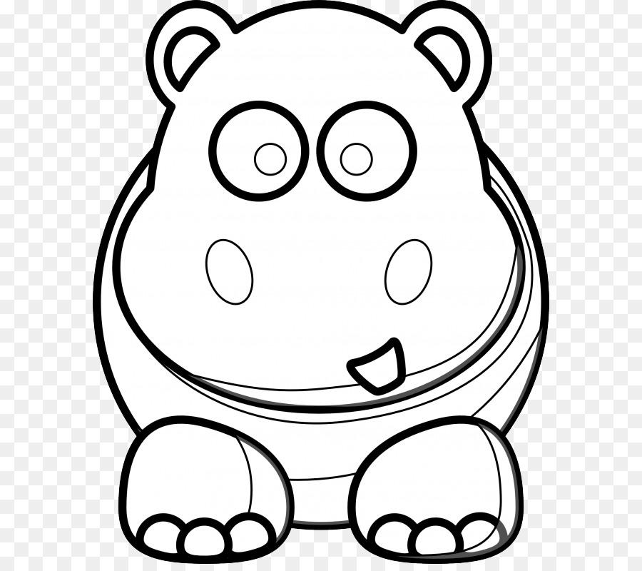 Hipopótamo libro para Colorear, Dibujo de dibujos animados Clip art ...