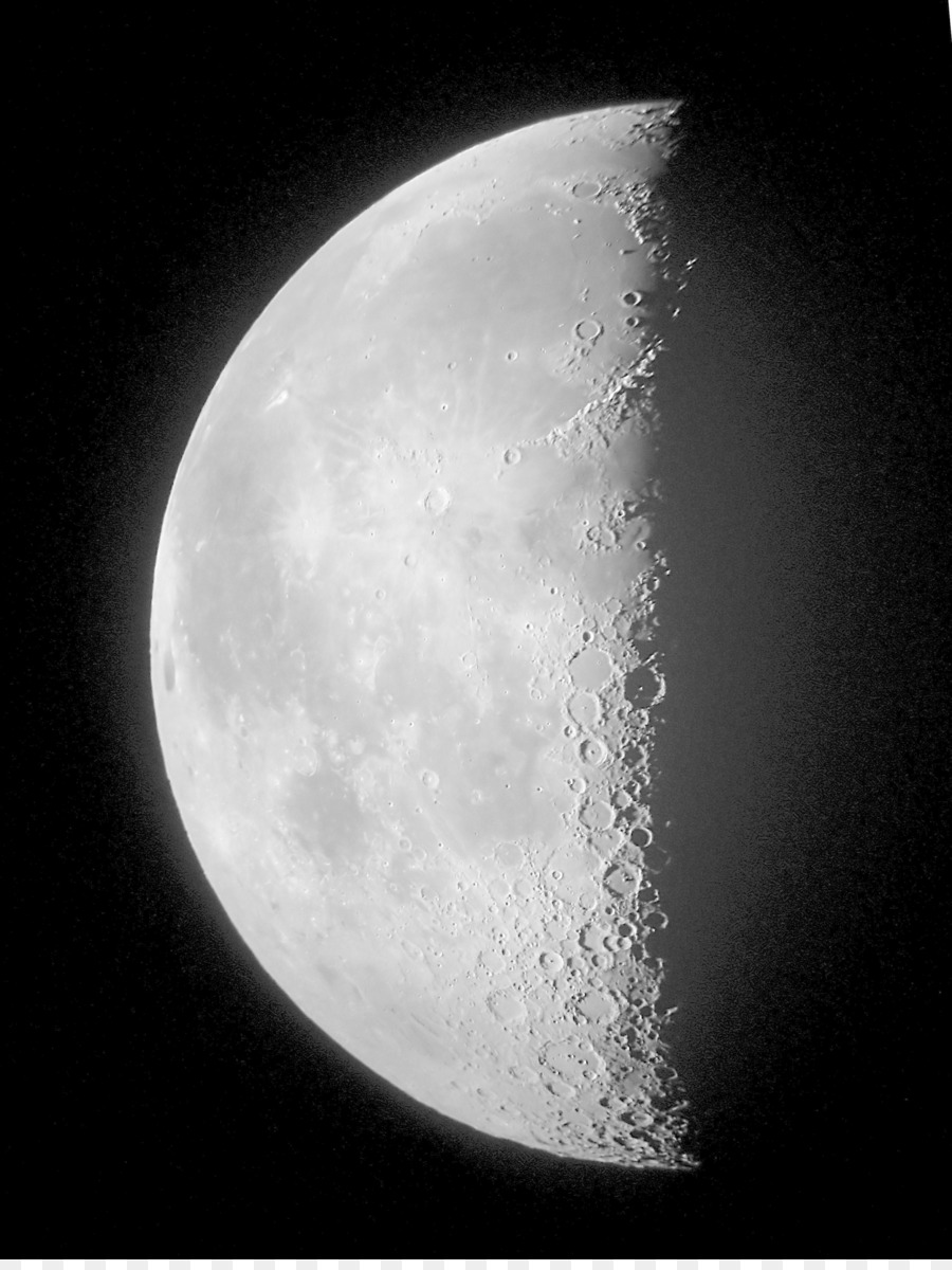Fase Lunar Último cuarto de la Luna luna en cuarto creciente Clip ...