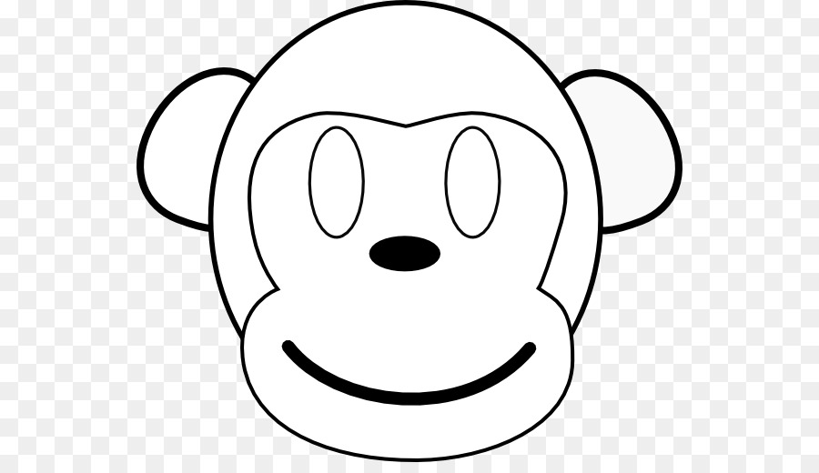 Coloring book Baby Monkeys Face Clip art - Outline Of A Monkey png ...