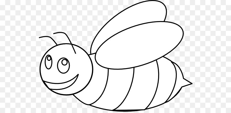 Bumblebee Outline Honey Bee Clip Art   Cartoon Bee Coloring Page
