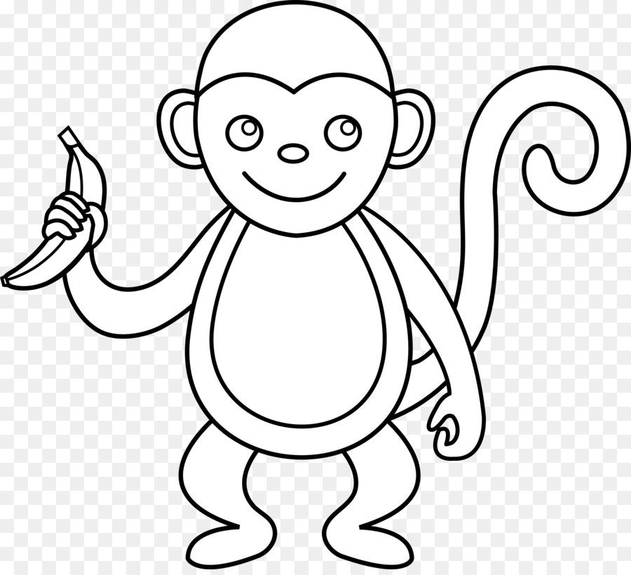 Spider monkey black and white clip art outline of a - Spider outline clip art ...