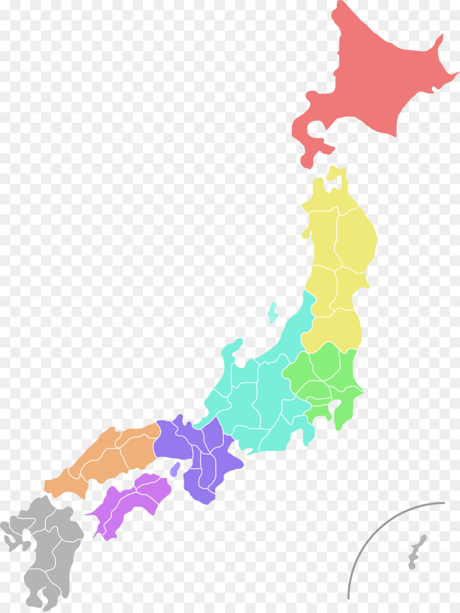 Prefectures of Japan World map Clip art - Japan Geography Cliparts ...