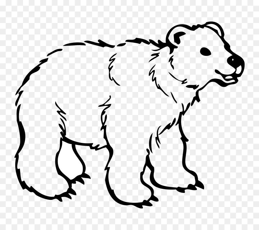 Polar bear American black bear