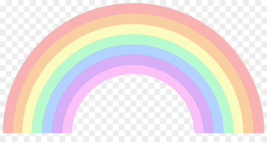 pastel rainbow clip art