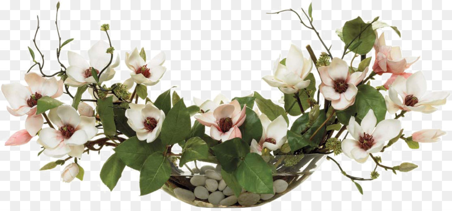 Floral Design Flower Bouquet Magnolia Artificial Flower White
