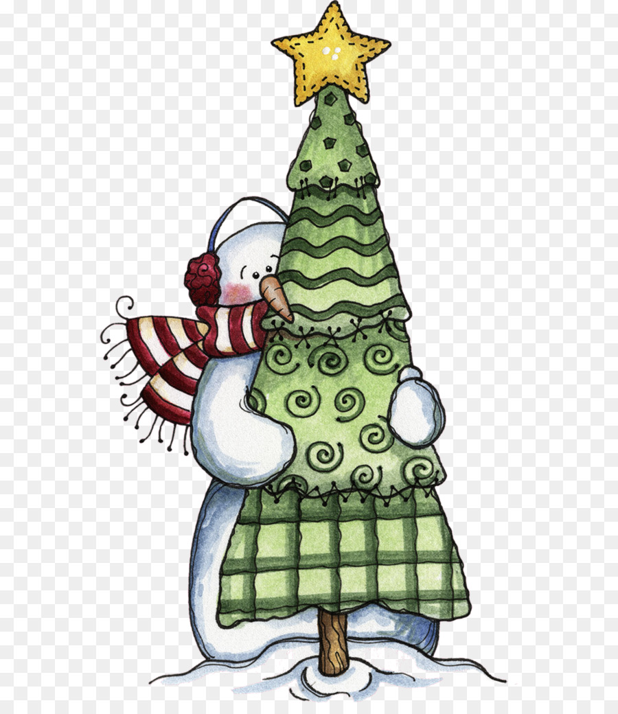 Christmas tree Drawing Snowman Coloring book - Cartoon snowman png ...