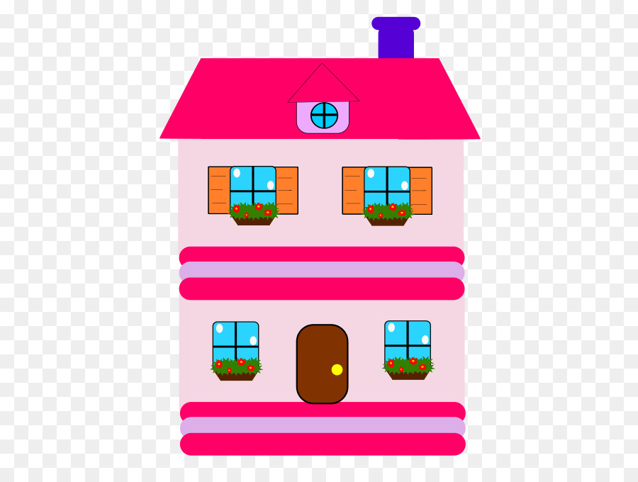 Dollhouse Toy Clip Art Home Cartoon Images Png Download 515 678