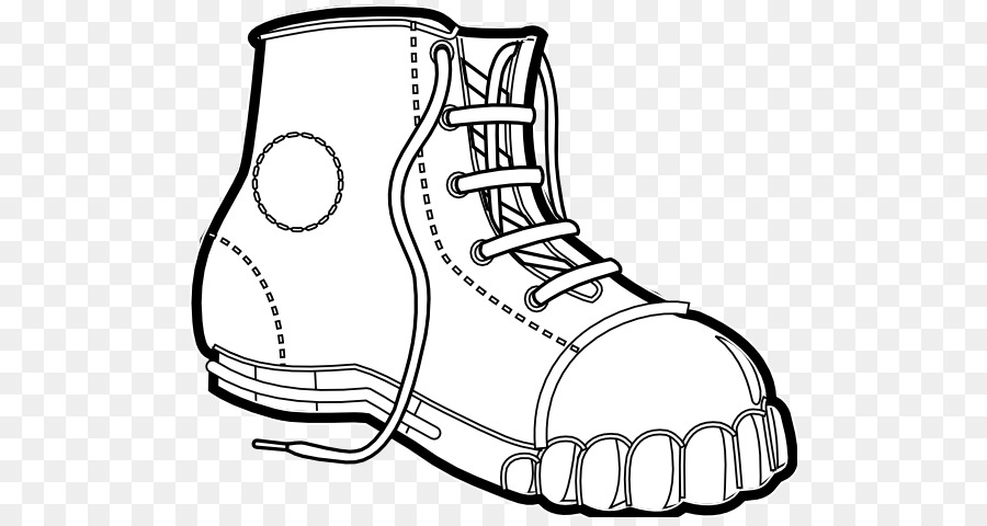 Clothing Black And White Boot Clip Art Black And White Line Art
