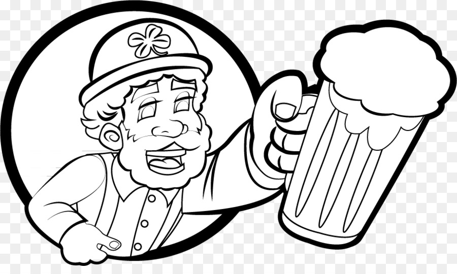 saint patrick s day black and white holiday leprechaun clip art st rh kisspng com