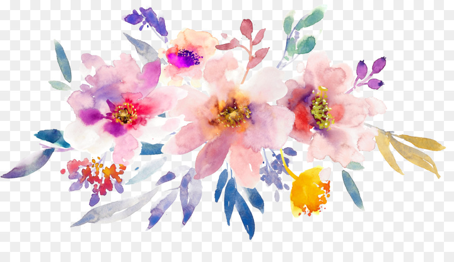 Watercolor Flowers Paper Watercolor Painting Hand Painted