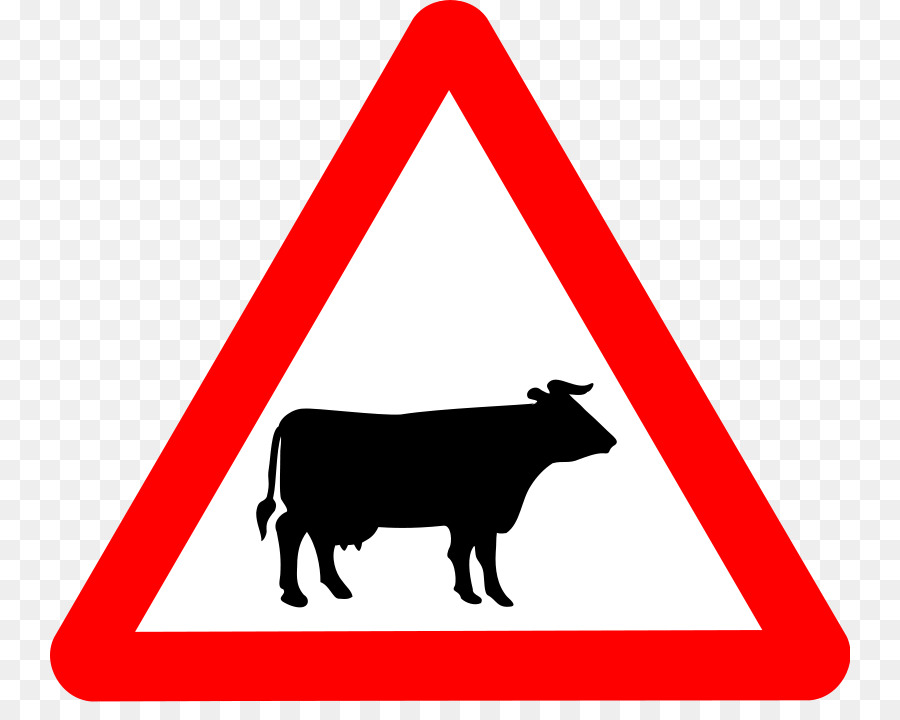 Cattle Ox Warning Sign Traffic Road