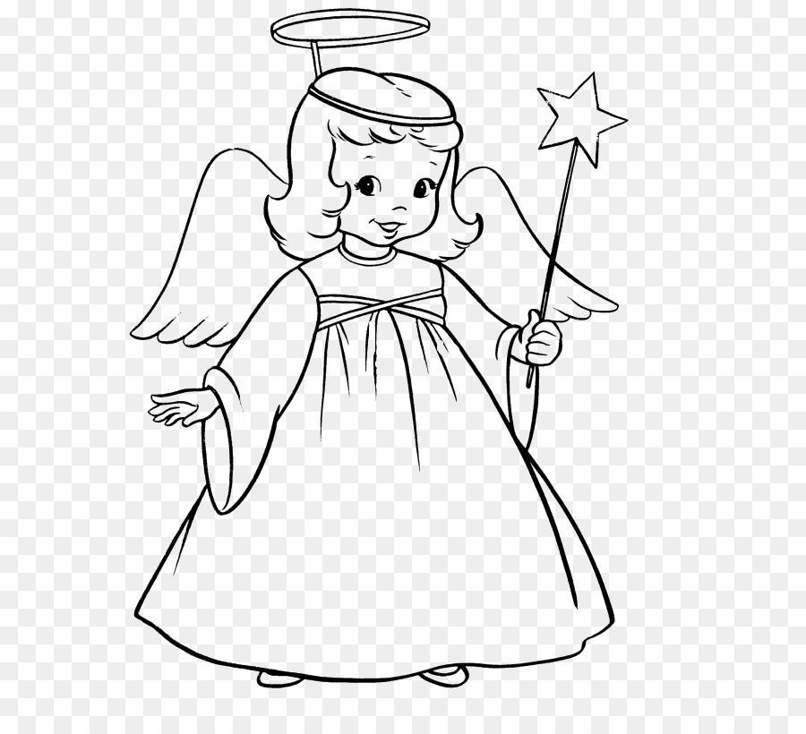 Libro para colorear de Niño Adulto Clip art - imagen de un ángel de ...