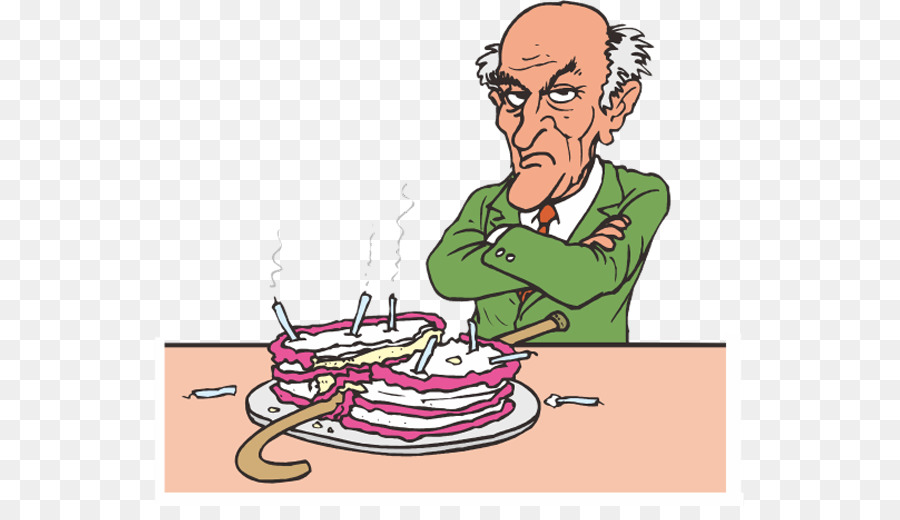 Birthday Cake Greeting Note Cards Man Clip Art Angry Old Man Png
