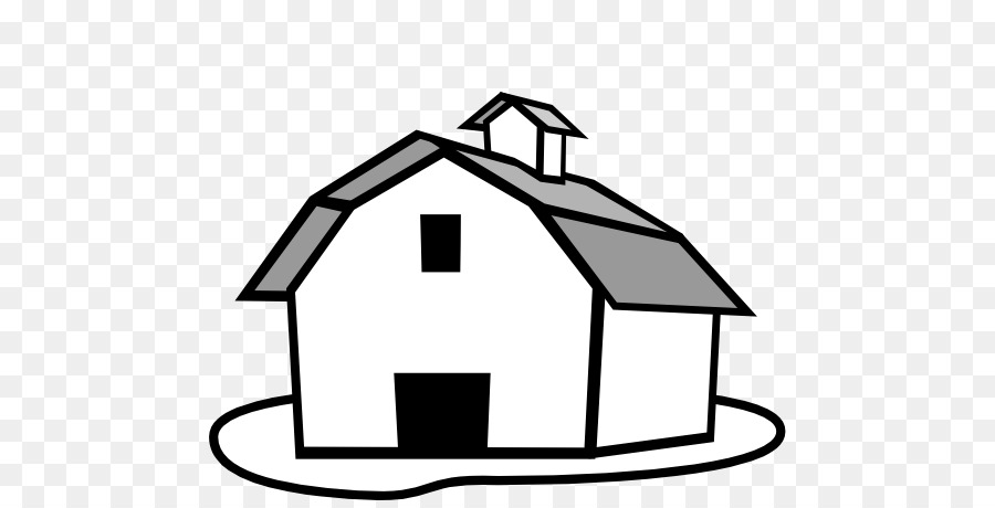 Black And White Farm Barn Farmer Farmhouse Clip Art