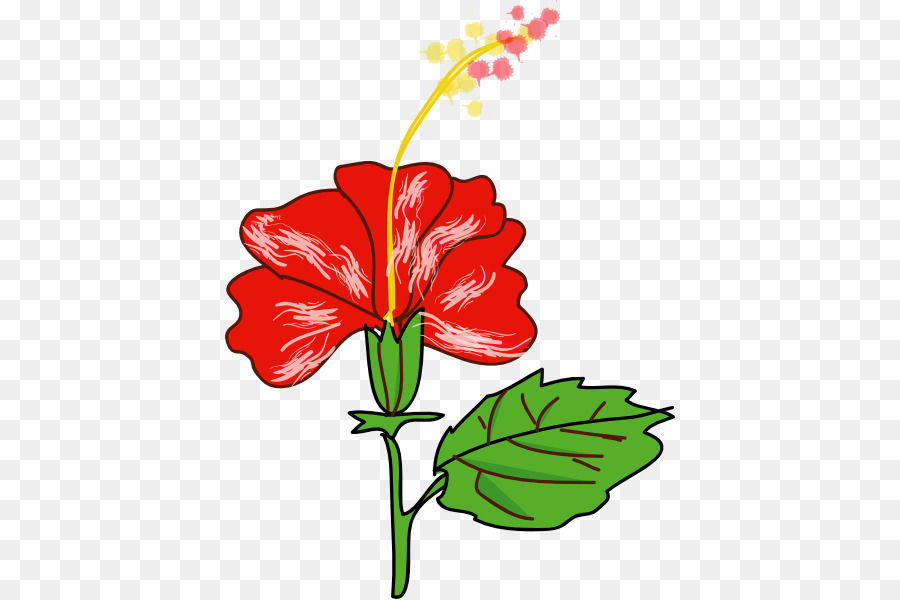 Hawaii Shoeblackplant Flower Clip Art Hibiscus Flower Cartoon Png