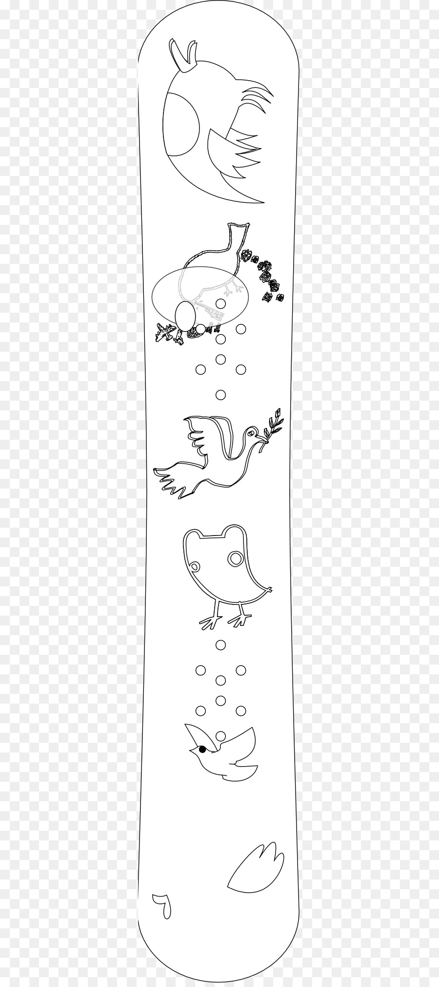 Hat Sanatı Siyah Ve Beyaz Boyama Kitabı Illüstrasyon Güvercin Hat