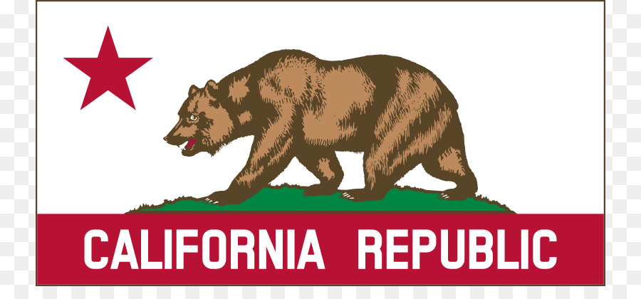 California Grizzly Bear Republic Flag Of