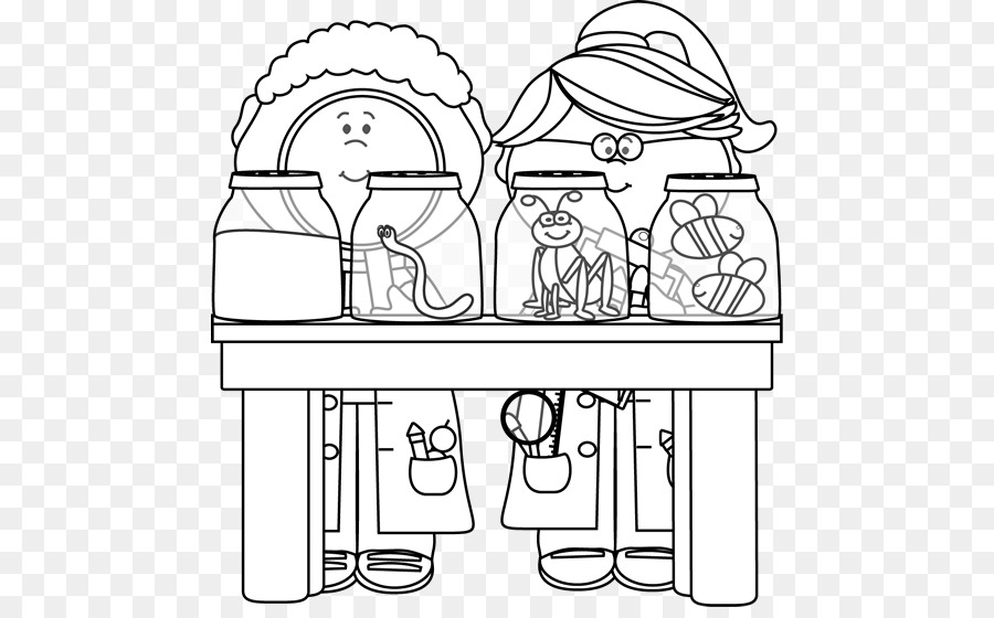 Science Black And White Scientist Clip Art