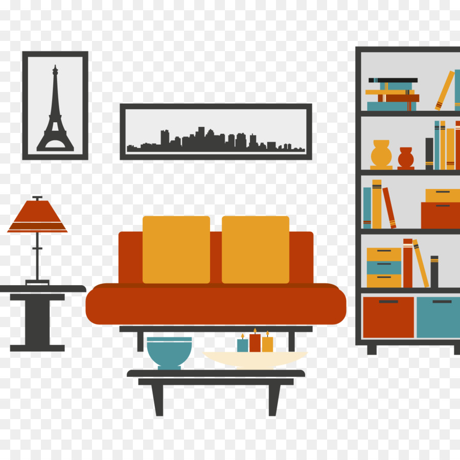 Furniture Table Couch Living room - Vector red sofa png download ...