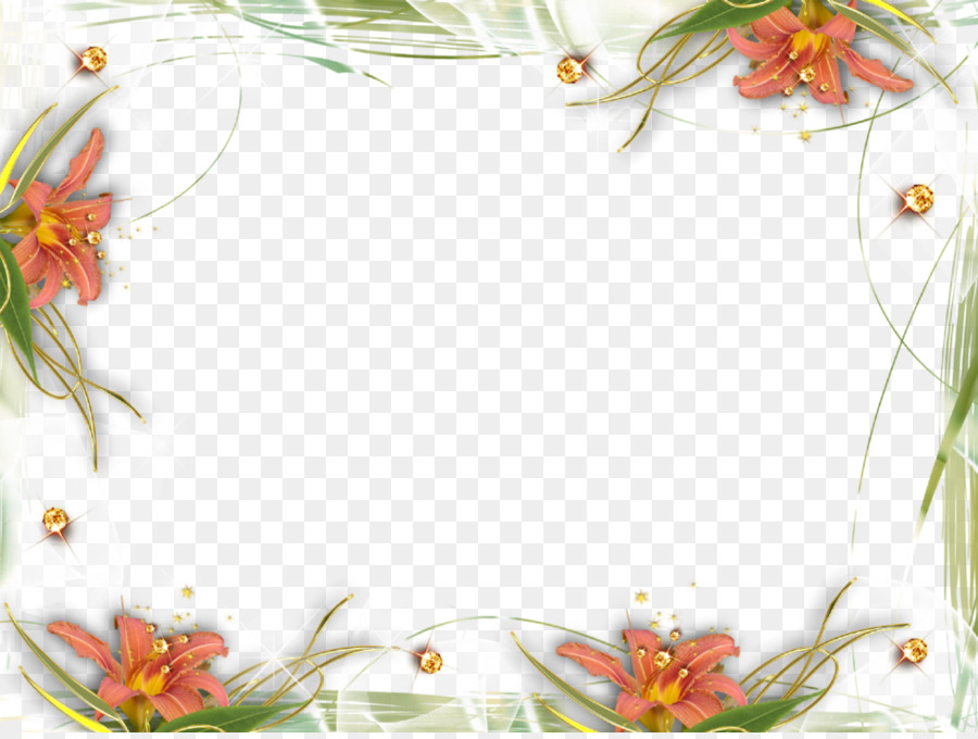 Picture Frames Clip art - Abstract Floral Frame Png png download ...