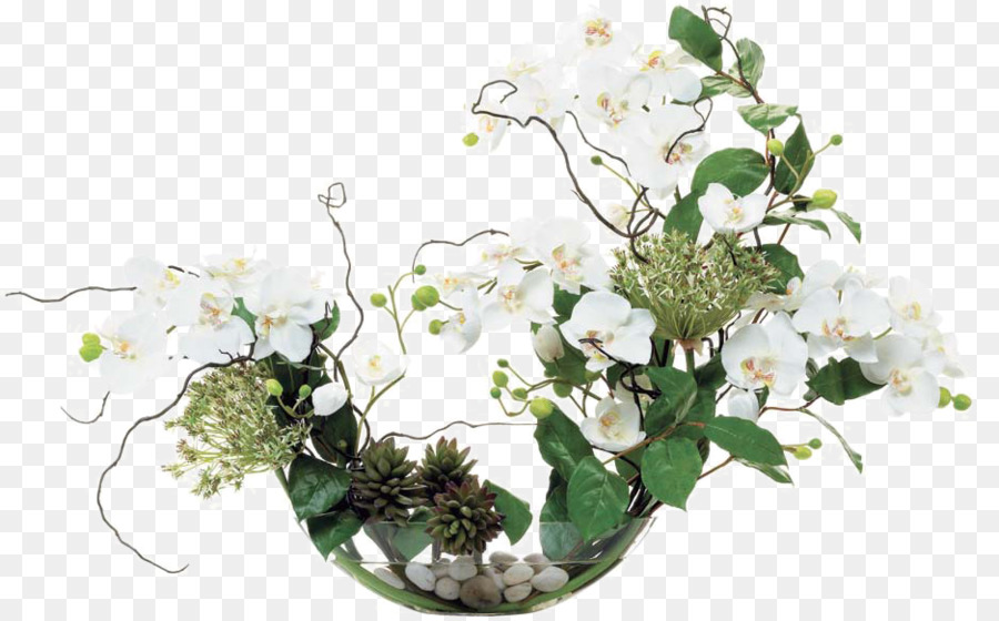 Floral Design Flower Bouquet Glass Arrangement White Flower Glass