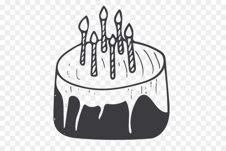 Birthday Cake Black Forest Gateau Torte Black And White Cake Png