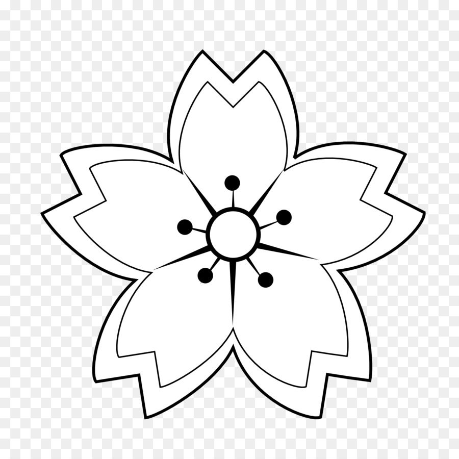 Flower Black And White Clip Art Flower Tattoos Black And White Png