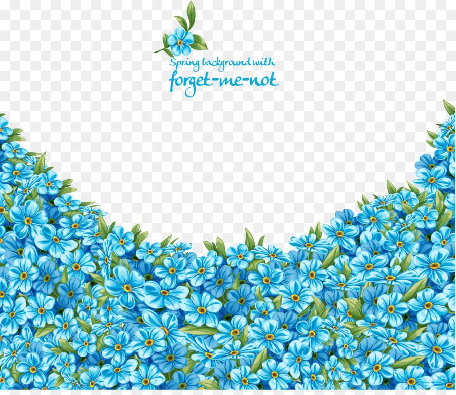 Wedding Invitation Flower Blue Scorpion Grasses