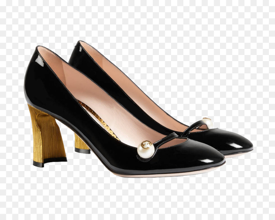 62a31567f6d Gucci High-heeled footwear Court shoe Kitten heel - Gucci heels black pearl  png download - 980 772 - Free Transparent Gucci png Download.