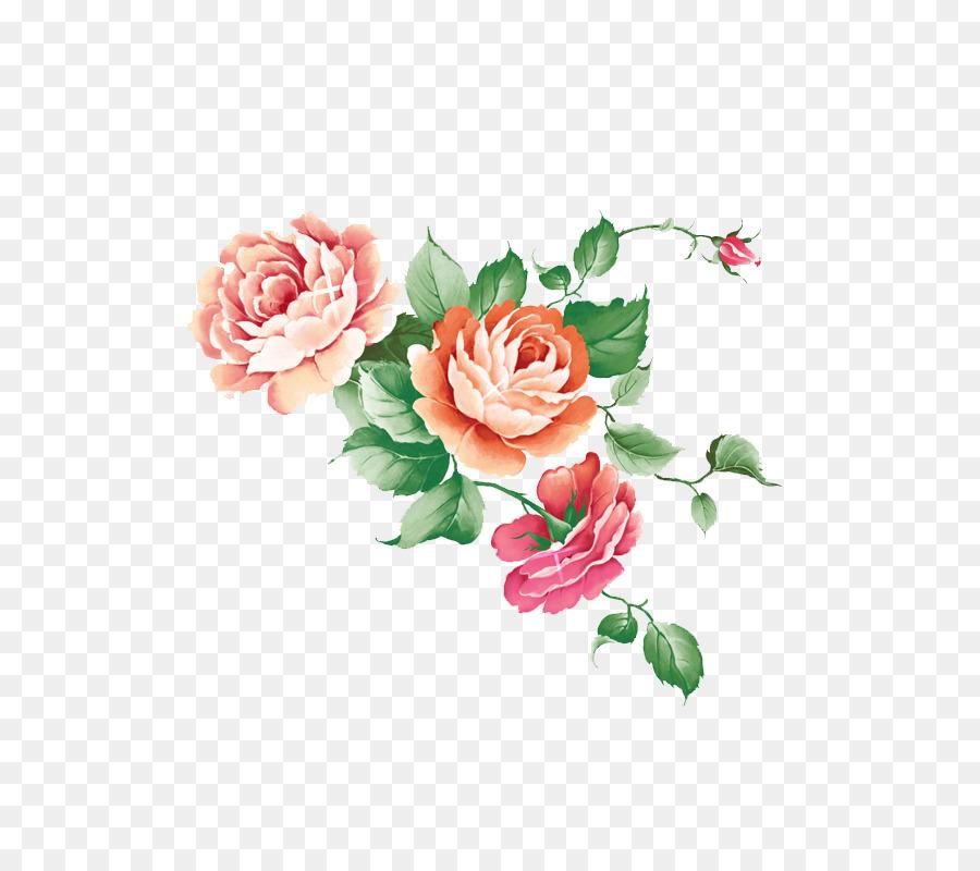 Bahçe Gül Suluboya Resim Mürekkep Boyama Yıkama Suluboya çiçek Png