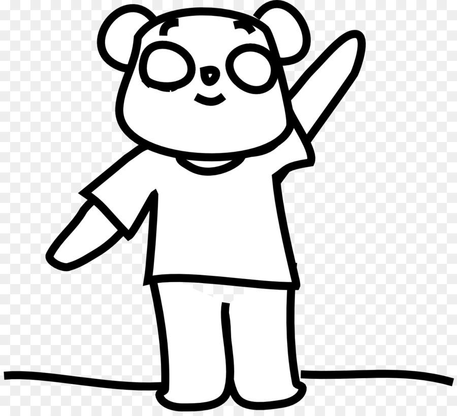Giant panda Red panda Bear Clip art - Gummy Bear Coloring Pages png ...