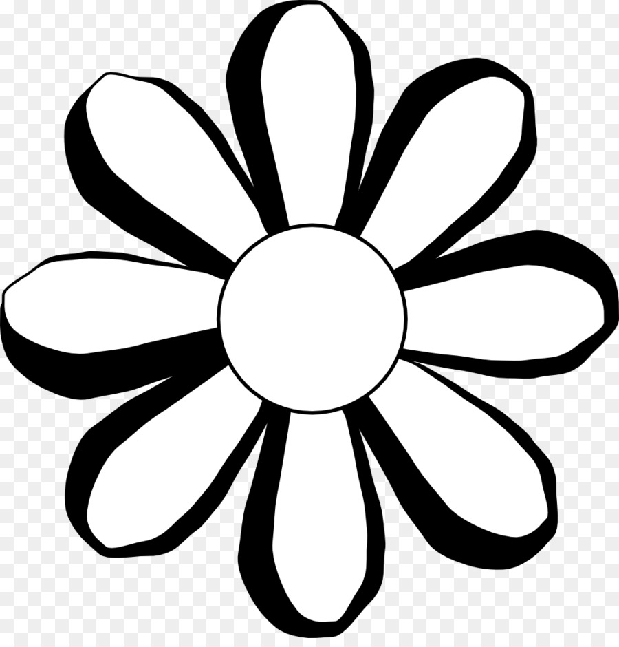 black and white flower clip art hippie dog cliparts png download rh kisspng com black and white clipart flower pot black and white flower clipart free