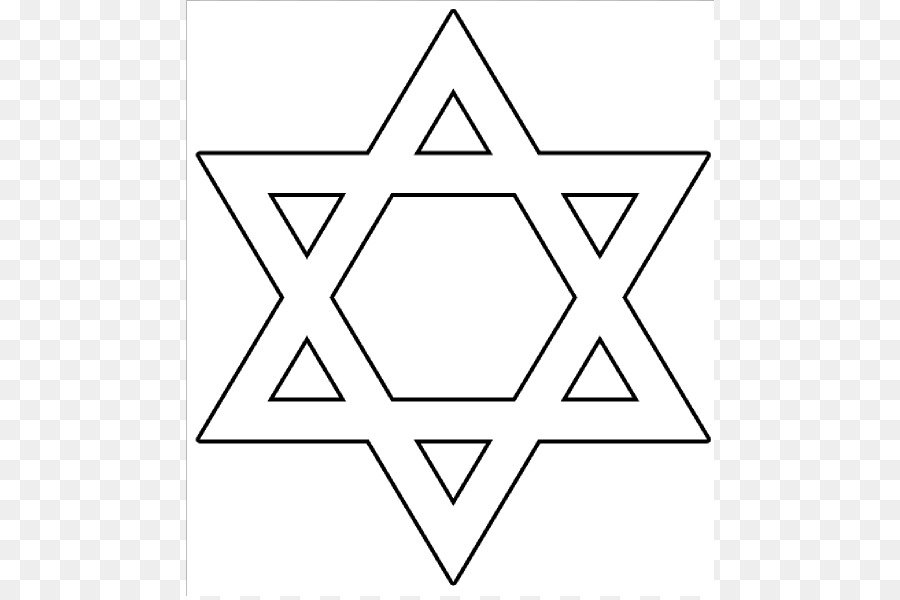 Star of David Judaism Symbol Clip art - Star Template Large png ...
