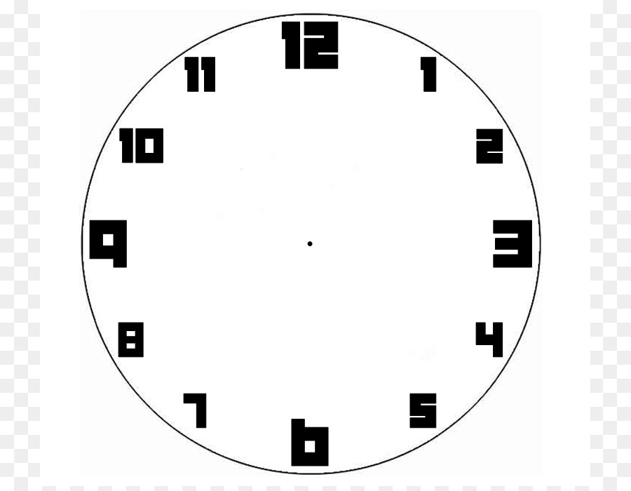 Clock Face Template Digital Clip Art