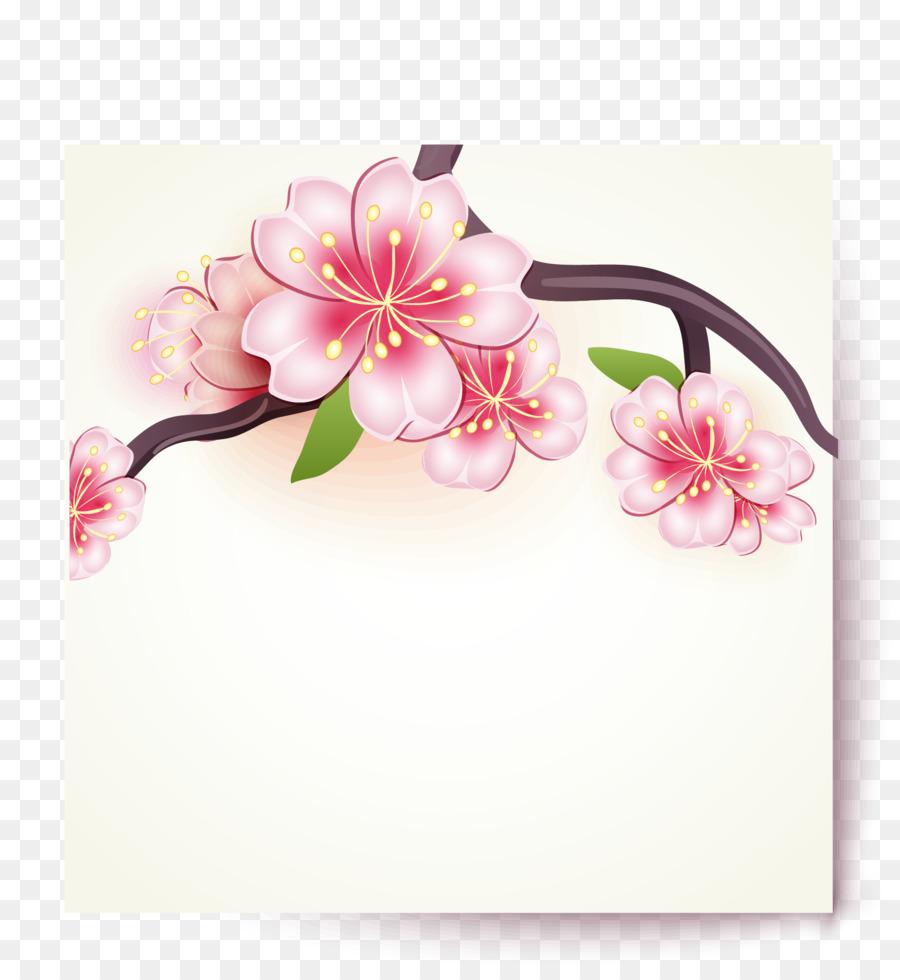 Paper cherry blossom sakura flowers card vector material png paper cherry blossom sakura flowers card vector material mightylinksfo