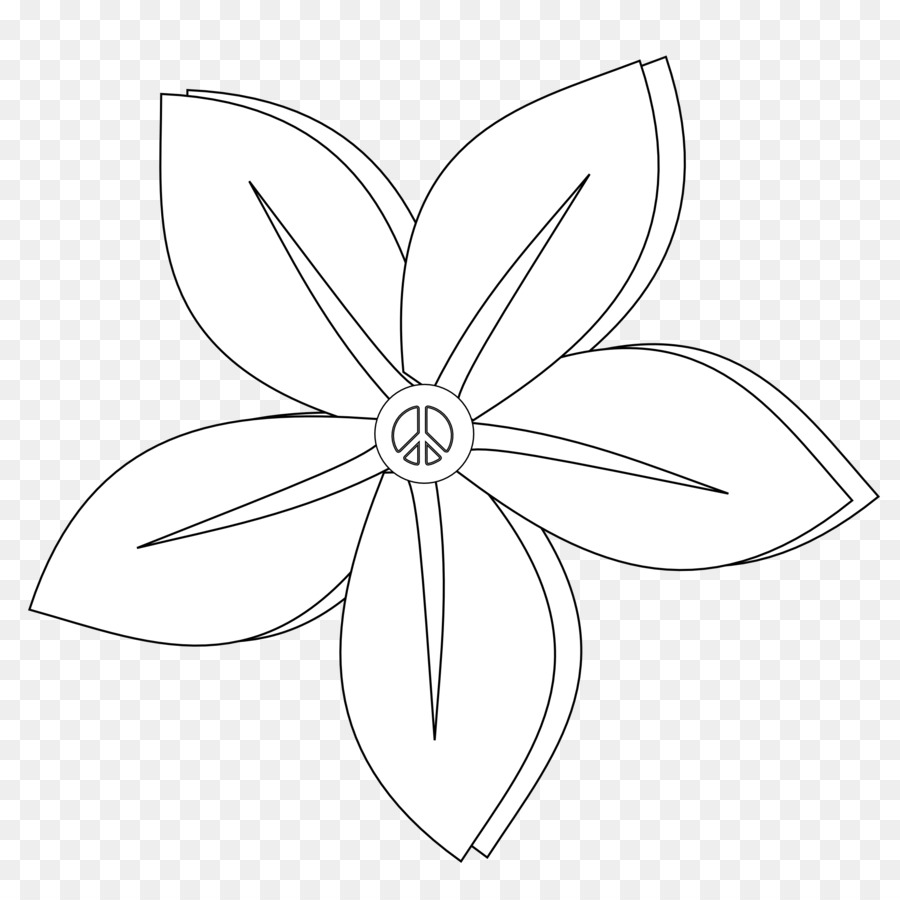 Petal White Symmetry Sketch Flower Tattoos Black And White Png