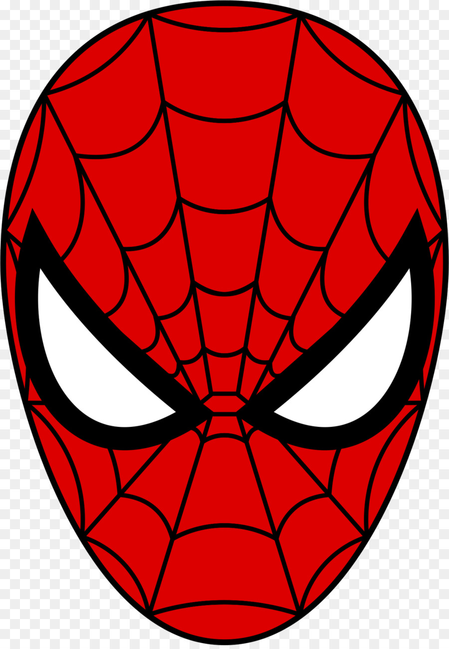 spider man face mask coloring book clip art spider man mask rh kisspng com Crown Clip Art Spider-Man Logo