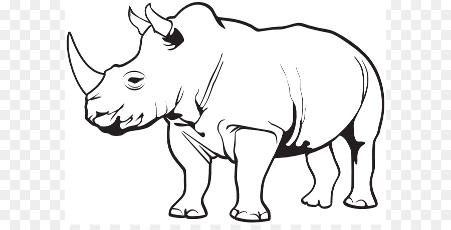 rhinoceros horn clip art rhino animal cliparts png download 642 rh kisspng com rhino clip art rhino clip art black and white