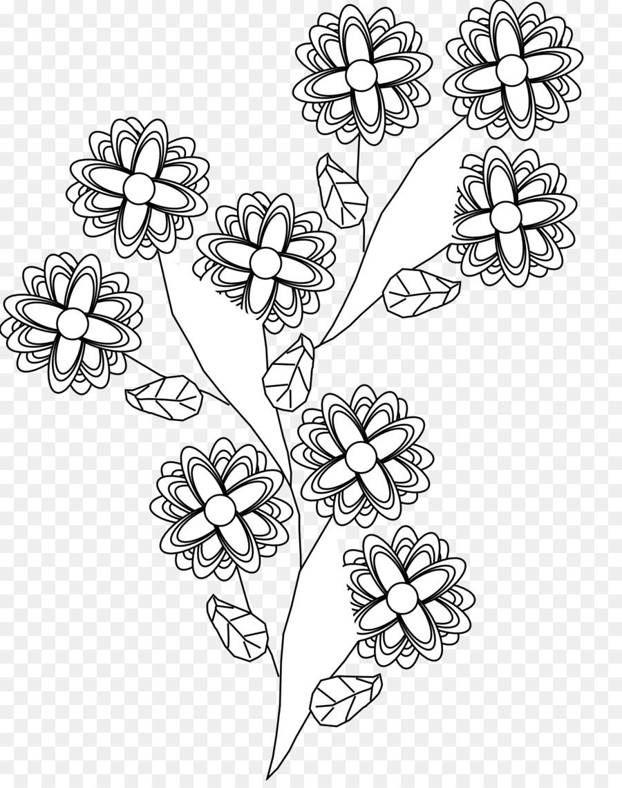 Tattoo Black And White Body Art Clip Art Black And White Flower