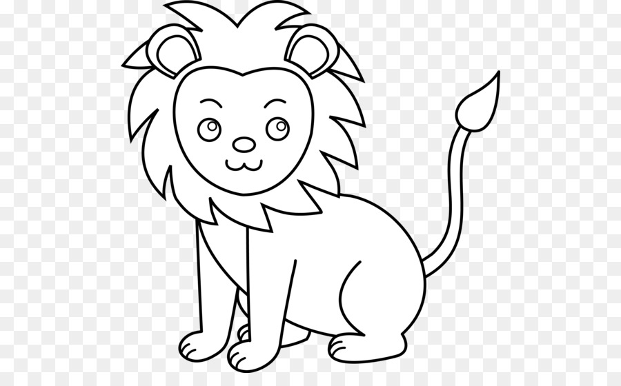 White Lion Black And White Clip Art Cute Pics Of Lions Clipart Png